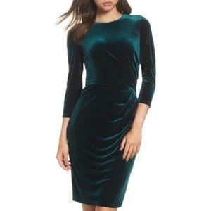 Eliza J Velvet Sheath Dress NWT